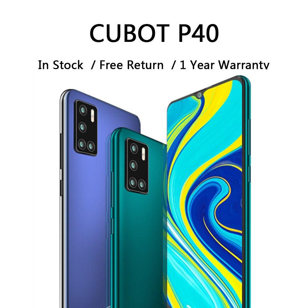 CUBOT P40 téléphones intelligents arrière Quad caméra 20MP Selfie 4200mAh NFC téléphone 4GB + 128GB 6.2 pouces Android 10 double carte SIM 4G LTE
