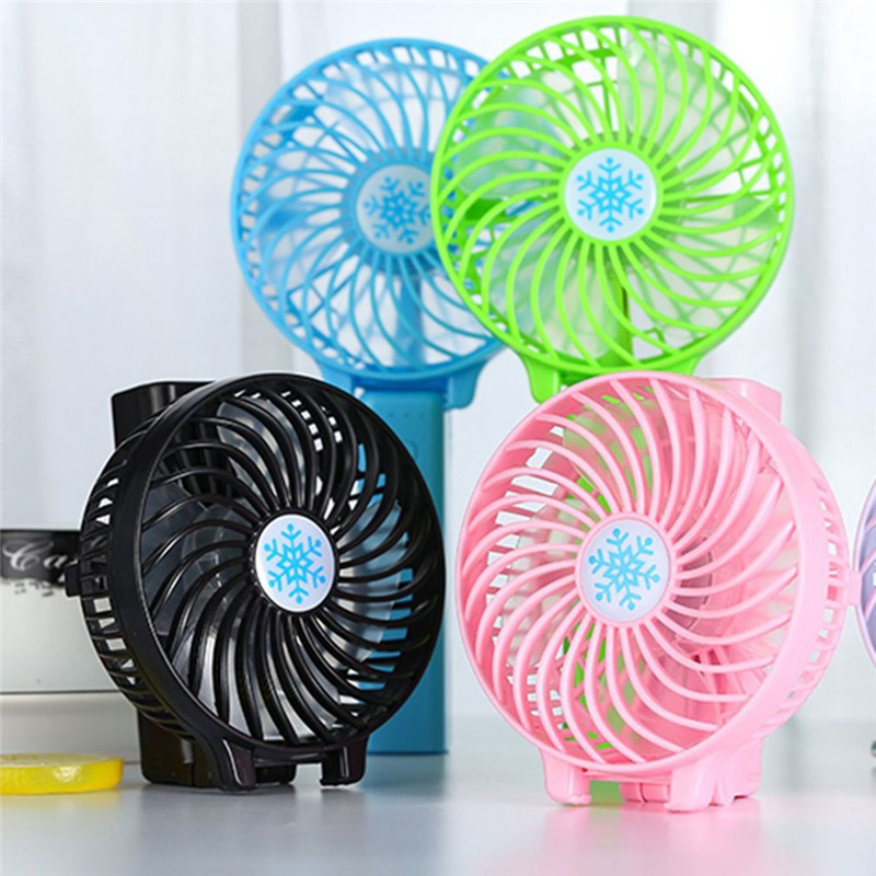 Portable Hand Fan USB Rechargeable Foldable Handheld Mini Cooler 3 Speed Adjustable Cooling Decor