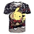 Футболка детская с принтом серии покемонов, повседневная забавная футболка с круглым вырезом и коротким рукавом для косплея, костюм покемо...