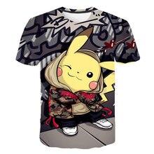 3d menino menina roupas pokémon série impresso camiseta crianças casual o-pescoço verão manga curta cosplay engraçado camiseta traje pokemon