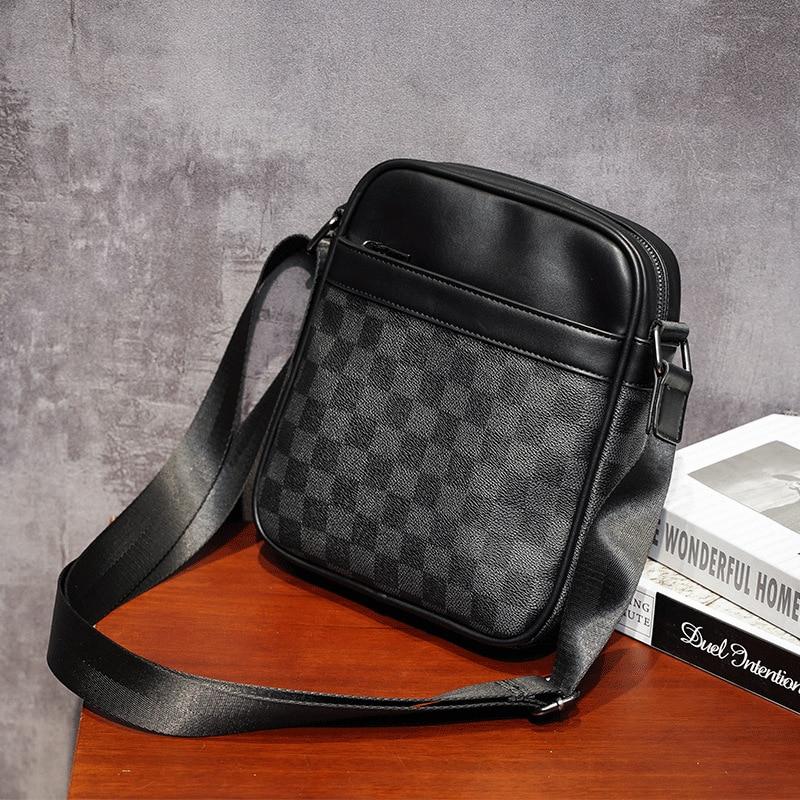 Small Briefcase Men's Messenger Bag Men Leather Shoulder Bags Man Business Crossbody Bags Male Leather Handbag
