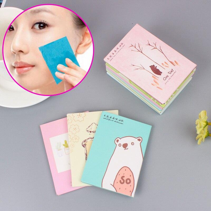 50 Sheets/Pack Facial Oil Control Film Makeup Facial Face Clean Oil Absorbing Blotting Papers Beauty Makeup Tools Random Pattern