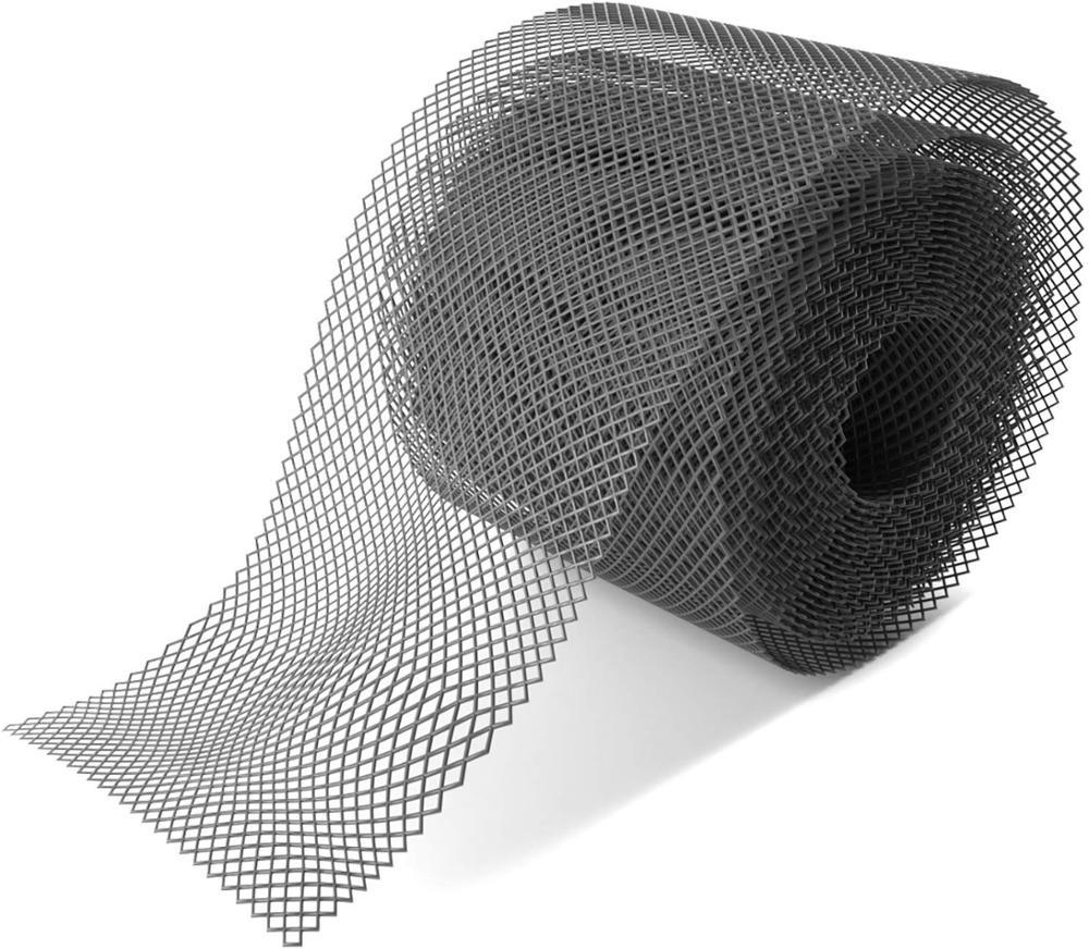 Protector de alcantarilla de malla de 20 pies X 6 pulgadas canalones de plástico negro cubierta de hoja de canal de fácil instalación