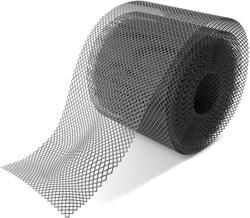 Sarjeta guarda malha 20 pés x 6in preto plástico calhas capa calha folha guarda fácil instalar