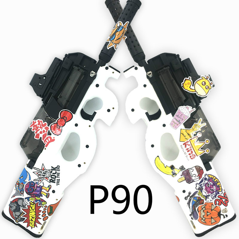 Water Bullet Bursts Gun P90 Electric Toy GUN  Graffiti Edition Live CS Assault Snipe Weapon Outdoor Pistol Toys
