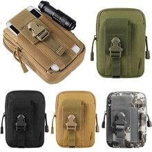 Pistolera táctica Universal militar Molle bolso de correa de cintura de cadera cartera monedero funda de teléfono con cremallera para teléfono