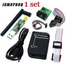 CC2531 Zigbee emülatörü cc debugger USB programcı CC2540 CC2531 Sniffer anten ile Bluetooth modülü konektörü Downloader kablo