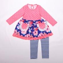 Crianças boutique roupas para crianças granel atacado retalhos inverno roupas para bebê meninas boutique outfit