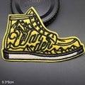 Желтые походные ботинки на открытом воздухе, патчи с вышивкой, нашивки для одежды, наклейки для одежды