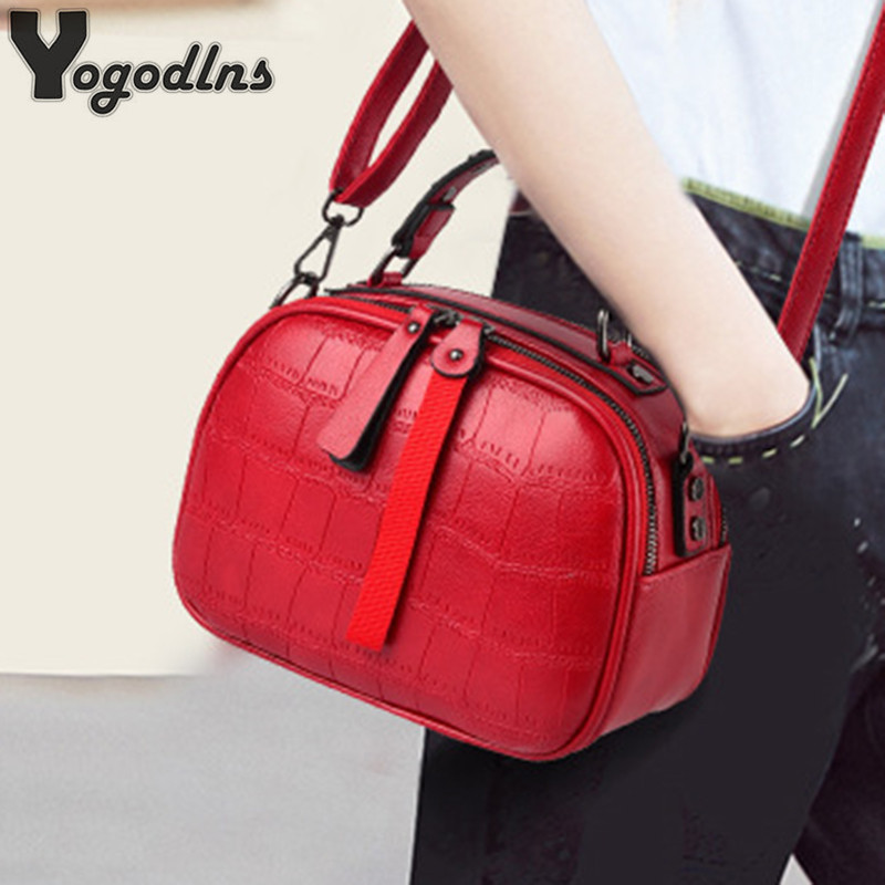 Mini PU Leather Crossbody Bags For Women 2019 Hair ball Shoulder Messenger Bag Ladies Small Rivet Handbags Travel Hand Bag-in Shoulder Bags from Luggage & Bags