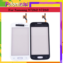 10pcs/lot new S7262 for Samsung Galaxy Star Pro S7262 GT-S7262 S7260 GT-S7260 Touch Screen Digitizer Sensor Front Glass Lens