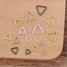 100 pces 5x0.7/7x 1/10x1mm triângulo fechado anéis de salto split anéis conectores para diy jóias artesanais encontrando fazendo acessórios