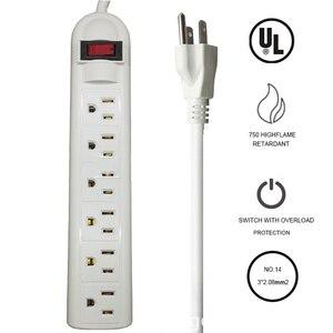 Image 3 - Multipresa 6 presa US American Plug adattatore elettrico presa omologata UL protezione da sovraccarico adattatore da viaggio con prolunga da 1.8m