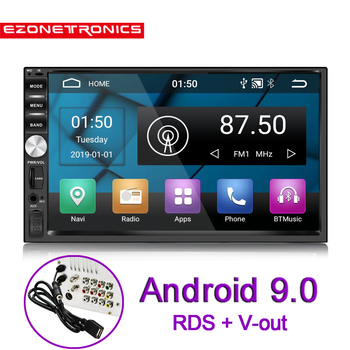Support DAB+ 2 Din Car Radio Player 7'' GPS Navigation Bluetooth Android 9.0 Car OBD2 Steering-wheel Rear View Camera WiFi RDS image