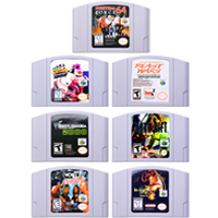 Video Game Cartridge Console Card 64 Bits Fighting Games Series For Nintendo64 Please Note the Version of Console image