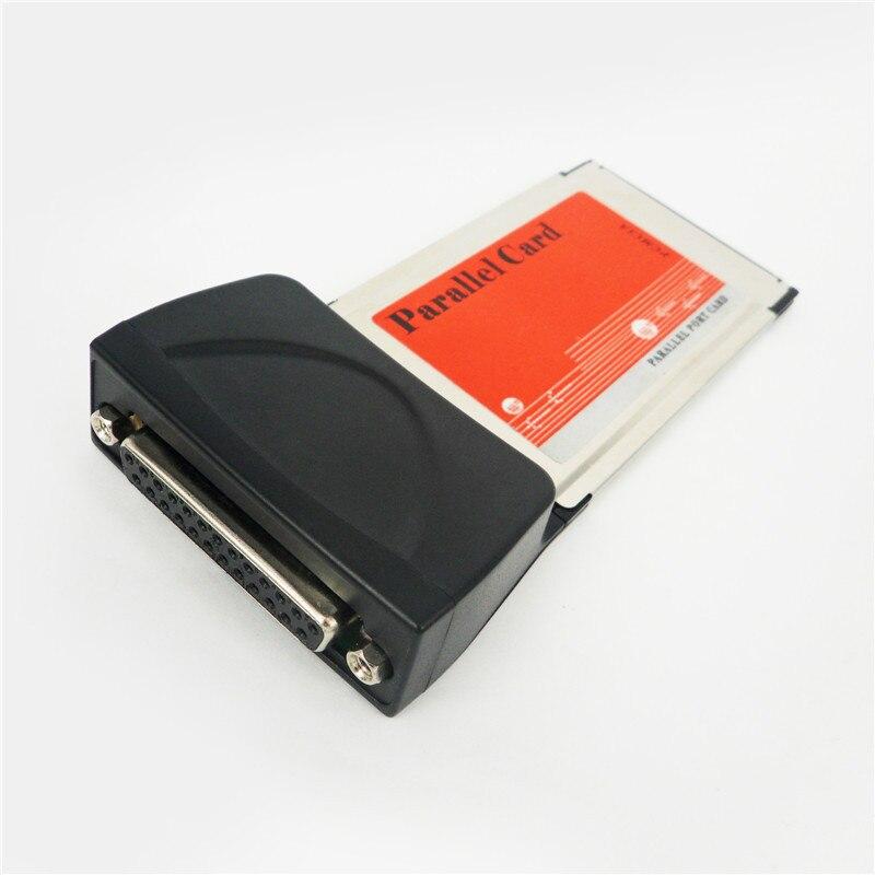Новая карта адаптера для параллельного порта для ноутбука с 25 отверстиями, параллельная карта порта PCMCIA на 1 параллельный порт