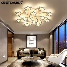 Modern led chandelier ART deco, room, white star living room dining bedroom kids room,Children's gift chandeliers,
