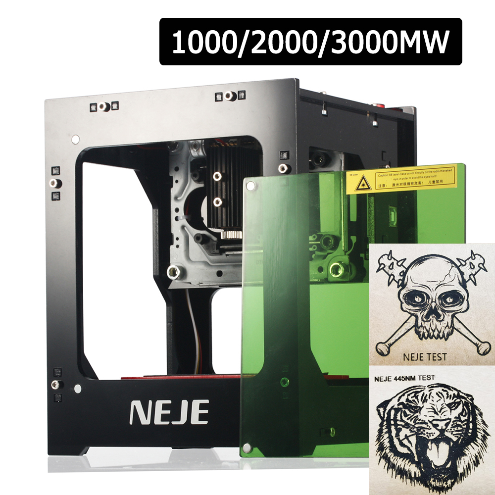 NEJE 1000mW Automatic DIY Print laser engraver High Speed mini USB Engraving Machine Off-line Operation with Protective Glasses reflection