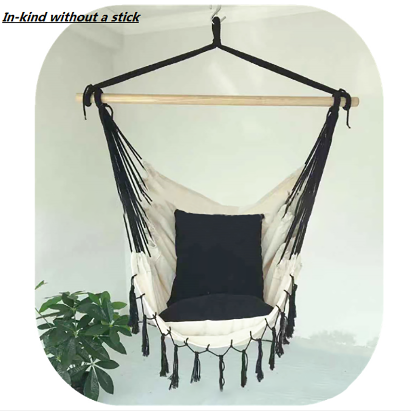 Top SaleHanging Hammock Chair Swing Camping-Furniture Portable Travel Tassel for 150KG Load Maximum