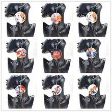 YD&YDBZ Cartoon Animal Series Round Wooden Drop Dangle Earring Fashion Women Big Earrings Wood Jewelry Classic Cute GIrls Gifts