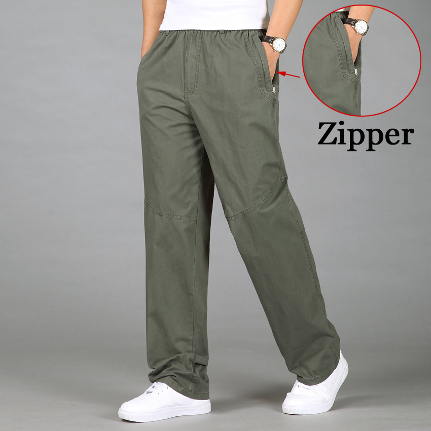 2020 Fashion Men Pants Casual Cotton Long Pants Straight Joggers Male Fit Plus Size 5XL 6XL Luxury Business Summer Trousers Men