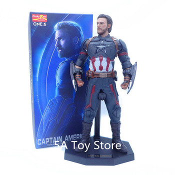 Crazy Toys Captain America Figure Black Shield Ver 1/6 Scale Painted PVC Action Figure Collection Model Toys
