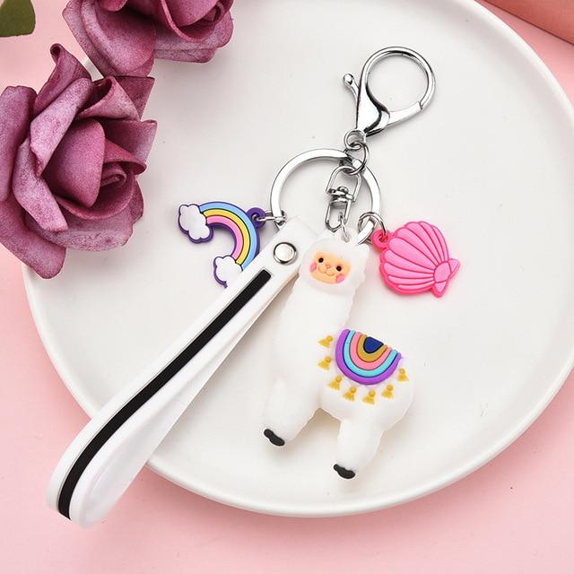 Фото новый мультфильм альпака брелок радужный корпус и многоцветный цена