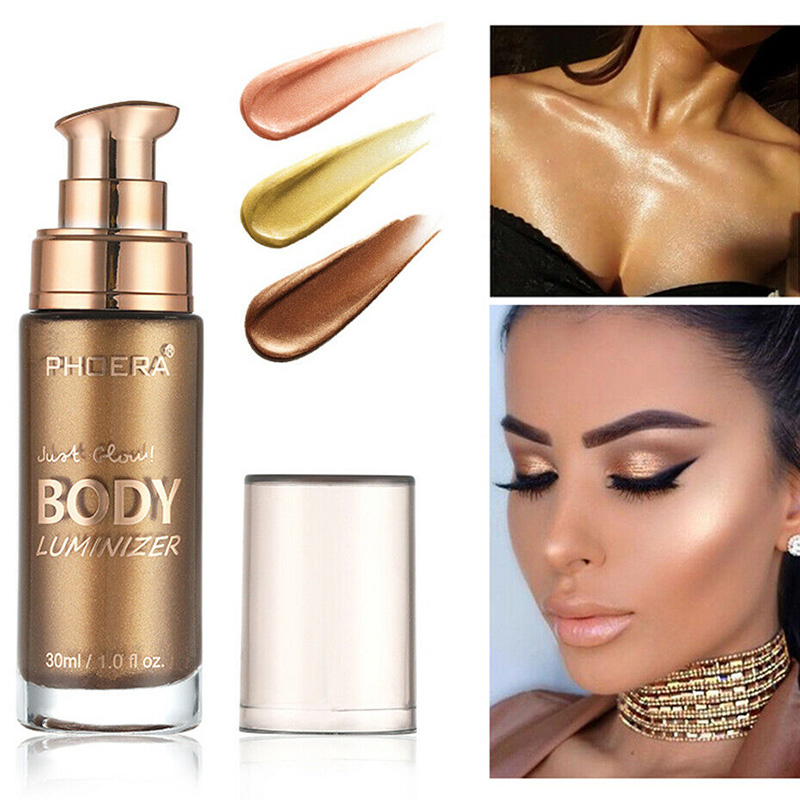 2019 Hot Sale Body Highlight Liquid Face Body Shimmer Make Up Liquid Brighten Cosmetic High Quality  J3