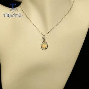 Image 5 - אופל קטן תליון טבעי אתיופיה חן ב 925 סטרלינג כסף פשוט תכשיטים עיצוב נחמד מתנת חג המולד עבור ילדה, אמא