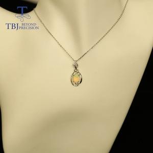 Image 5 - Petit pendentif en pierre précieuse dethiopie naturelle en argent sterling 925, design simple, bijou fin, joli cadeau de noël, pour fille et maman