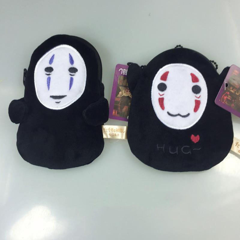 1Pc New Japanese Anime Spirited Away No Face Coin Purse Unisex Plush Stuff Wallet Multi-functional Kawaii Bag Plush Toys Gift