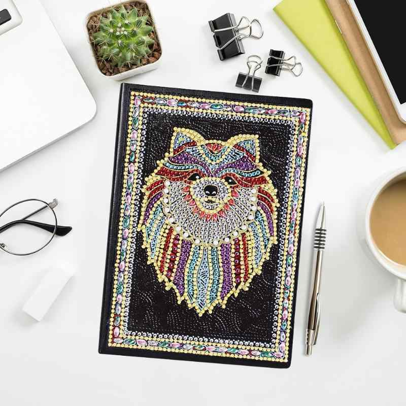 DIY Bear Special Shaped Diamond Painting 50 Pages A5 Sketchbook Notebook Gift