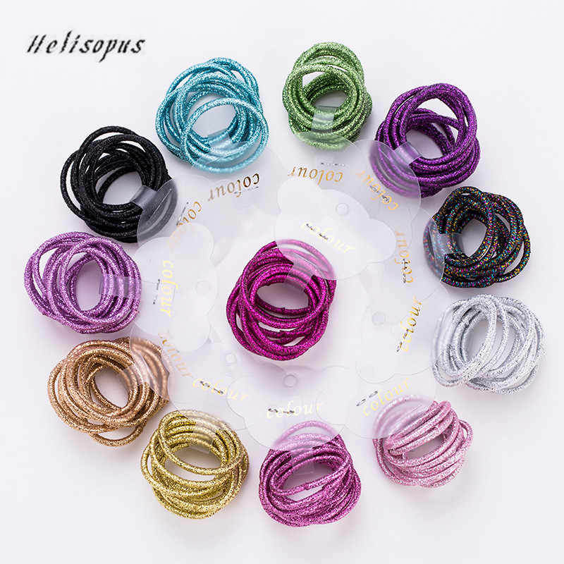 Helisopus New Fashion 12 Colors 10Pcs/Lot Children Rubber Bands Candy Colors Safe Hair Elastics for Girls Kids Hair Accessories