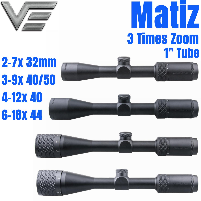 optica vetorial matiz 1 polegada 2 7x32 3 9x40 4 12x40 6 18x44 ao 1 4