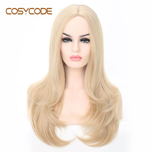 Image 1 - COSYCODE Synthetic Blonde Wig with Wavy Ends 24 Long Cosplay Wig for Women Heat Resistant Halloween Wig Non Lace Costume Wig