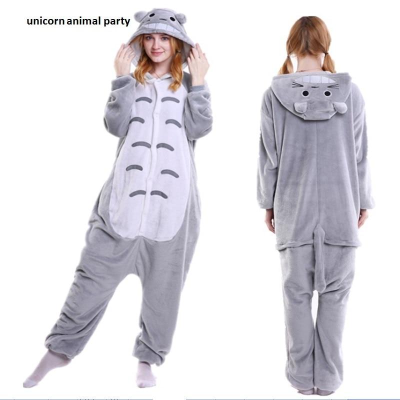 Kigurumi téli anime pizsamák Felnőttkori állatok Totoro Cosplay gyermekek pizsamák Hálóruhák jelmez Női Férfi hálóruhák