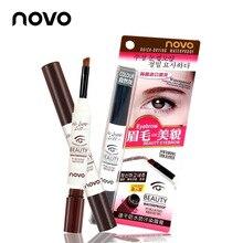 NOVO eyebrow pencil Eye brow kit tint Waterproof Eye brow Gel eyes makeup korean
