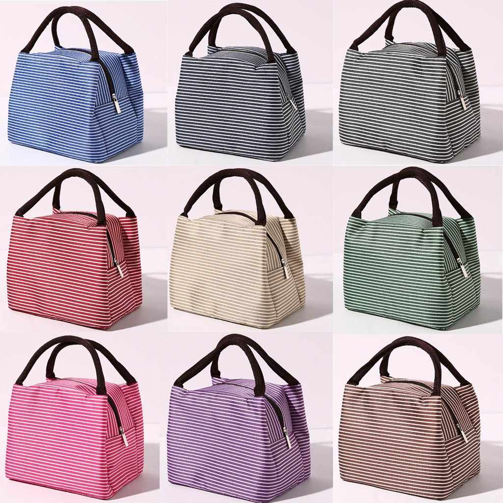 2019 new Waterproof Lunch Bag for Women kids Men Cooler Lunch Box Bag Unisex Outdoor Fashion Simple Style Large Capacity