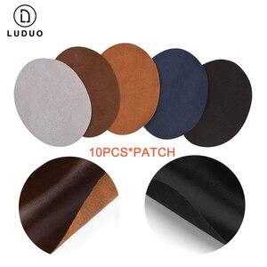 Image 2 - LUDUO Vinyl Liquid Leather zestaw naprawczy klej wklej fotelik samochodowy poprawa stanu skóry Refurbish odzież buty Boot Fix Crack z 10 sztuk Patch