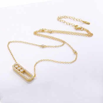 Slovecabin Bijoux Femme Original 925 Sterling Silver Move Long Link Chain Women CZ Necklaces High Quality Jewelry Accessories
