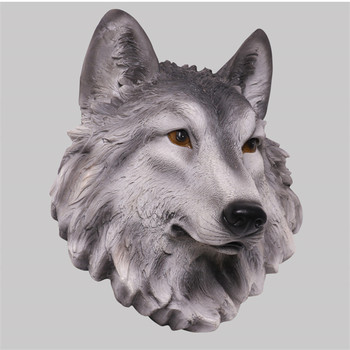 Simulation Animal Wolf Head Wall Hangings Lion Tiger Bear Head Bar Home Living Room Television Walls Decor Business Gift M4203