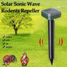 1 pçs solar powered pest rejeitar ultra sônico sonic mouse mole inseto pragas roedor repelente led luz ao ar livre lâmpada jardim # t2p