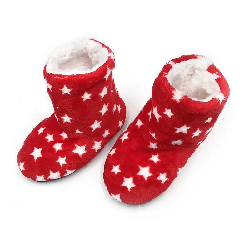 Children Indoor Slippers Shoes Winter Kids Boys Girls House Star Boot Socks Home Soft Plush Warm Cute Christmas Gift Shoes