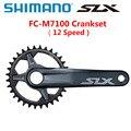 Новый шатун SHIMANO DEROE SLX FC M7100 12 Скоростей 32T 34T 170 мм 175 мм HOLLOWTECH II MTB