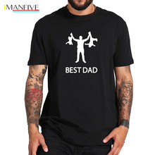 Best Dad Tshirt Funny Design Father Day T shirt 100% Cotton Fashion Gift T-shirt EU Size кулер для воды aqua work myl31s w black