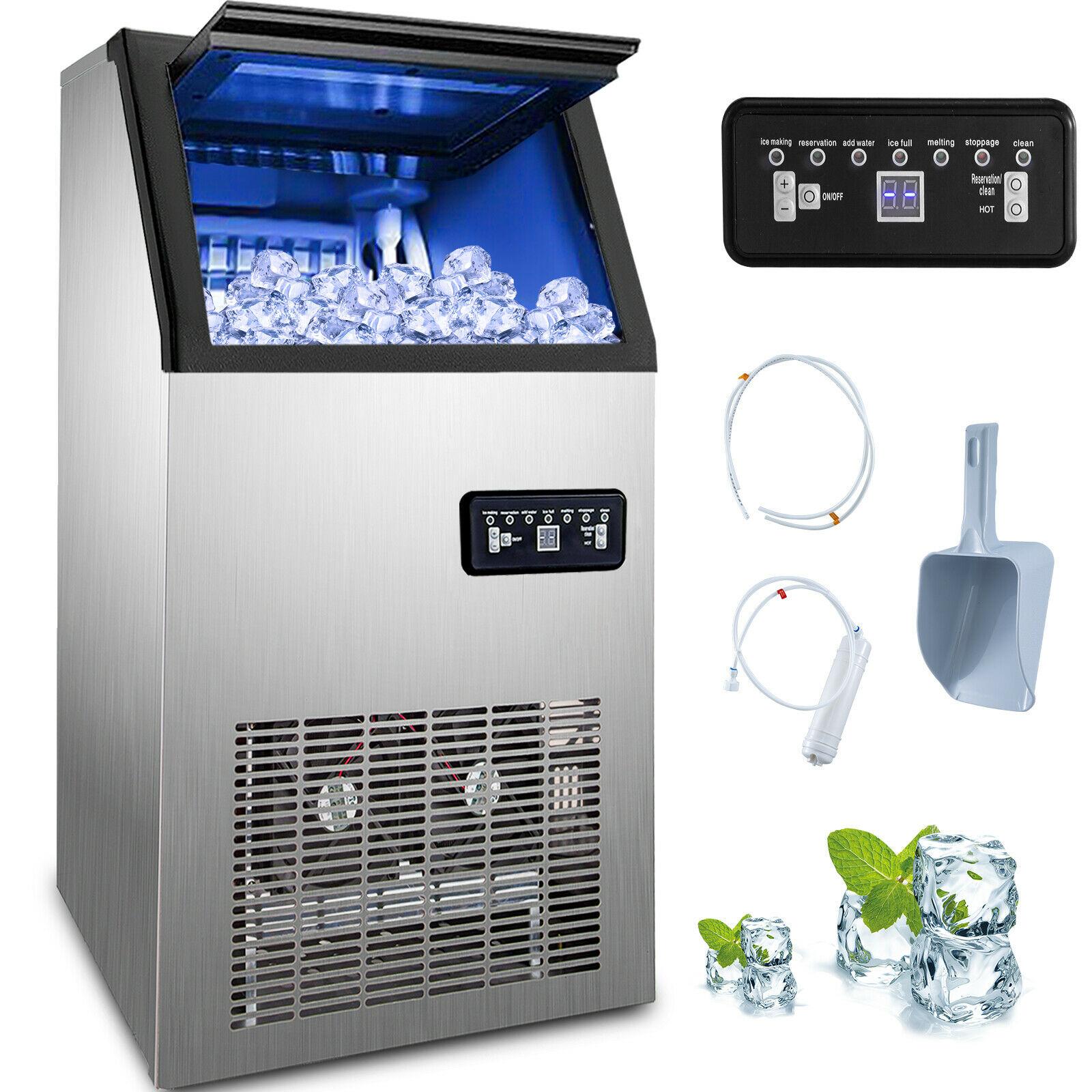 Commercial Ice Maker 50kg by 24H Ice Maker 230W 220V for cafes, parties, homes, restaurants, bars, hotels
