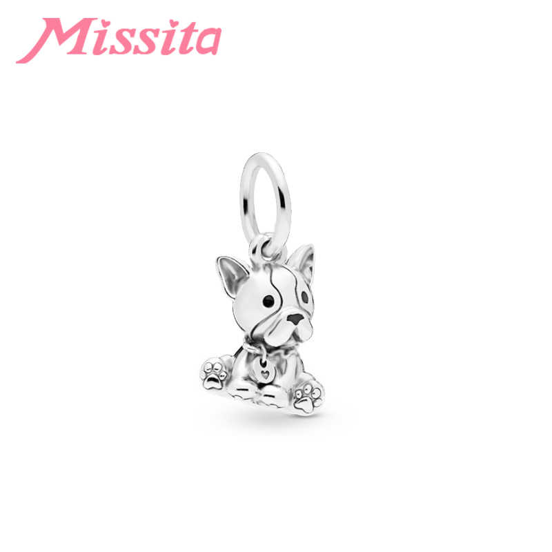 MISSITA Cute Dogs Cats Pendant fit Pandora Charms Bracelet DIY Jewelry Women Silver Jewelry Accessories
