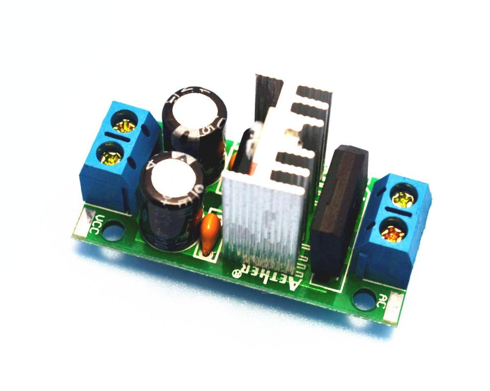 DYKB LM7812/ LM7815 AC/DC 12V 15V 3A Rectifier Filter Converter Voltage Regulator Power Supply Module