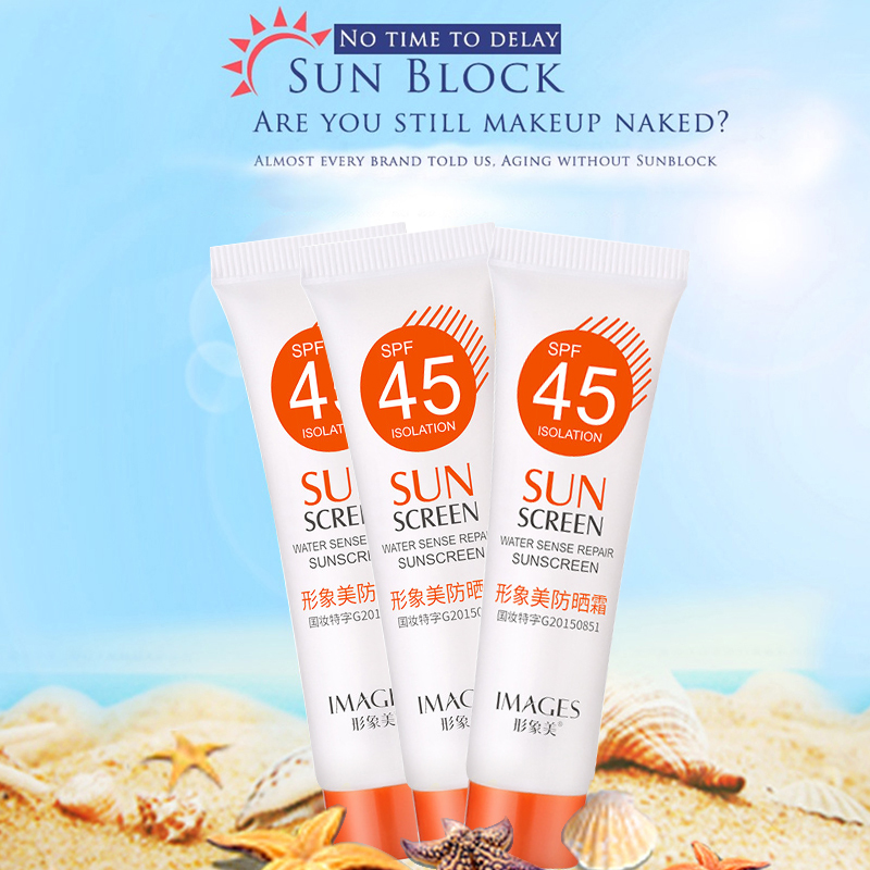 SPF 45+ Sunscreen Moisturizing Cream RefreshingLight Breathable UV Protection Skin Cream Not Greasy Sun Screen TSLM1