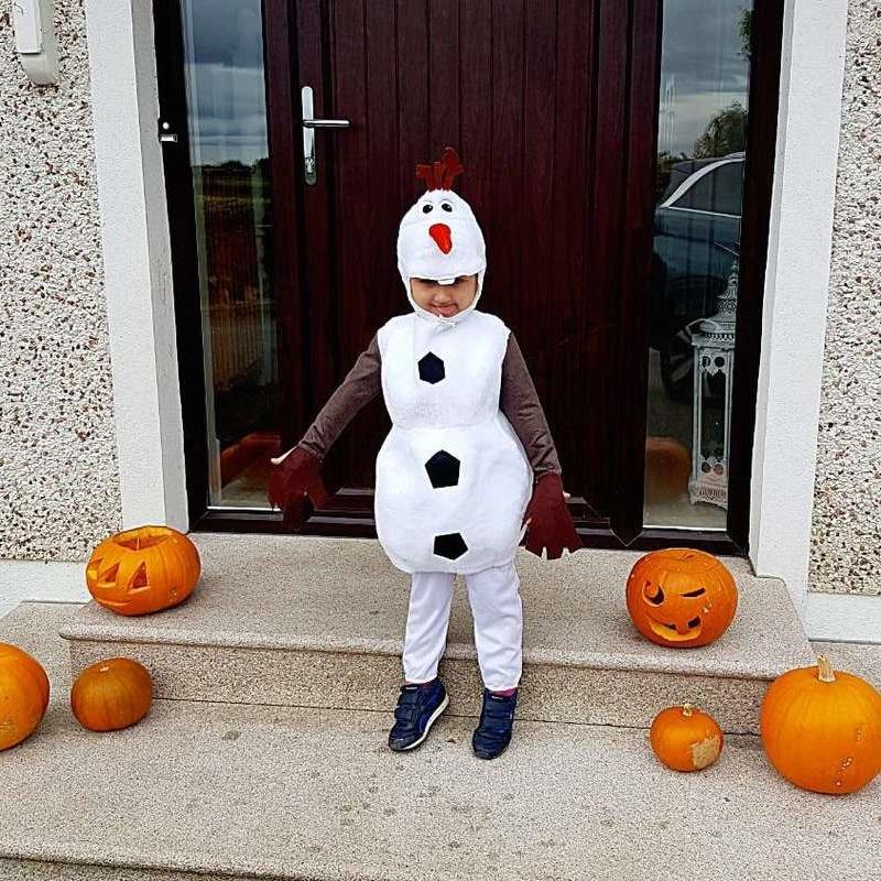 Детский костюм Олафа на Хэллоуин для малышей любимый мультяшный фильм Снеговик Вечерние